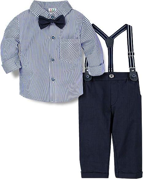 A&J DESIGN Conjuntos para Bebé Niños Camisa y Pantalones Tirantes ...