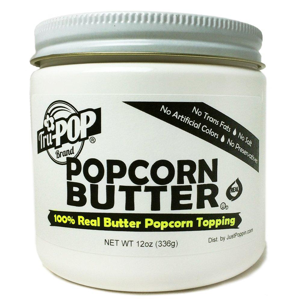 Real Popcorn Butter Topping Tru-POP 12oz NEW ITEM