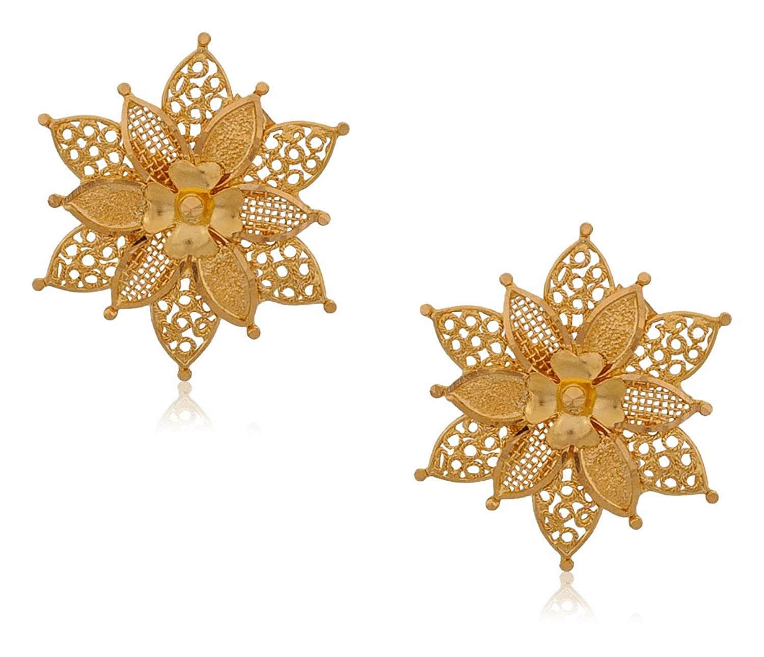 Buy Senco Gold 22k Yellow Gold Stud Earrings Online at Low Prices ...