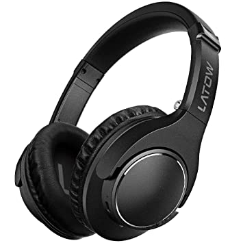 Auriculares Bluetooth, LATOW Cascos Bluetooth Inalámbricos, Auriculares con Micrófono Cascos de Diadema Plegables Headphone
