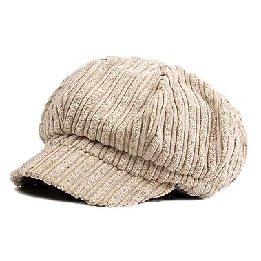 9c0c08c2771 ZLSLZ Womens Corduroy Striped Octagonal Ivy Newsboy Cabbie Gatsby Painter Hats  Caps