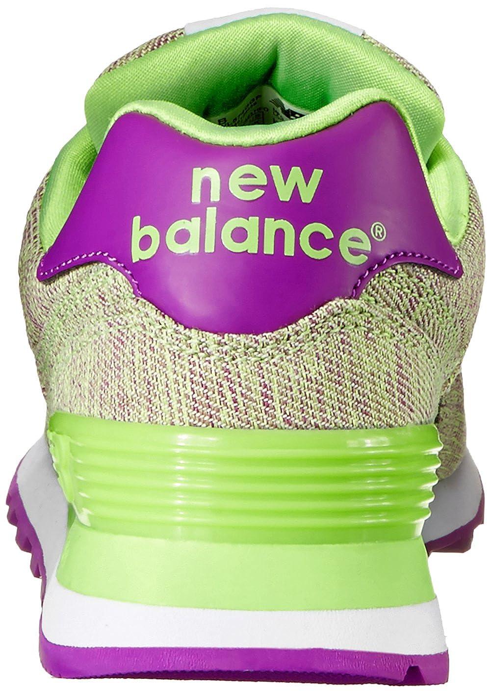 347cdb5d026 New Balance - WL574GGP - Color  Verde claro-Violeta - Size  40.5EU  Amazon. es  Zapatos y complementos