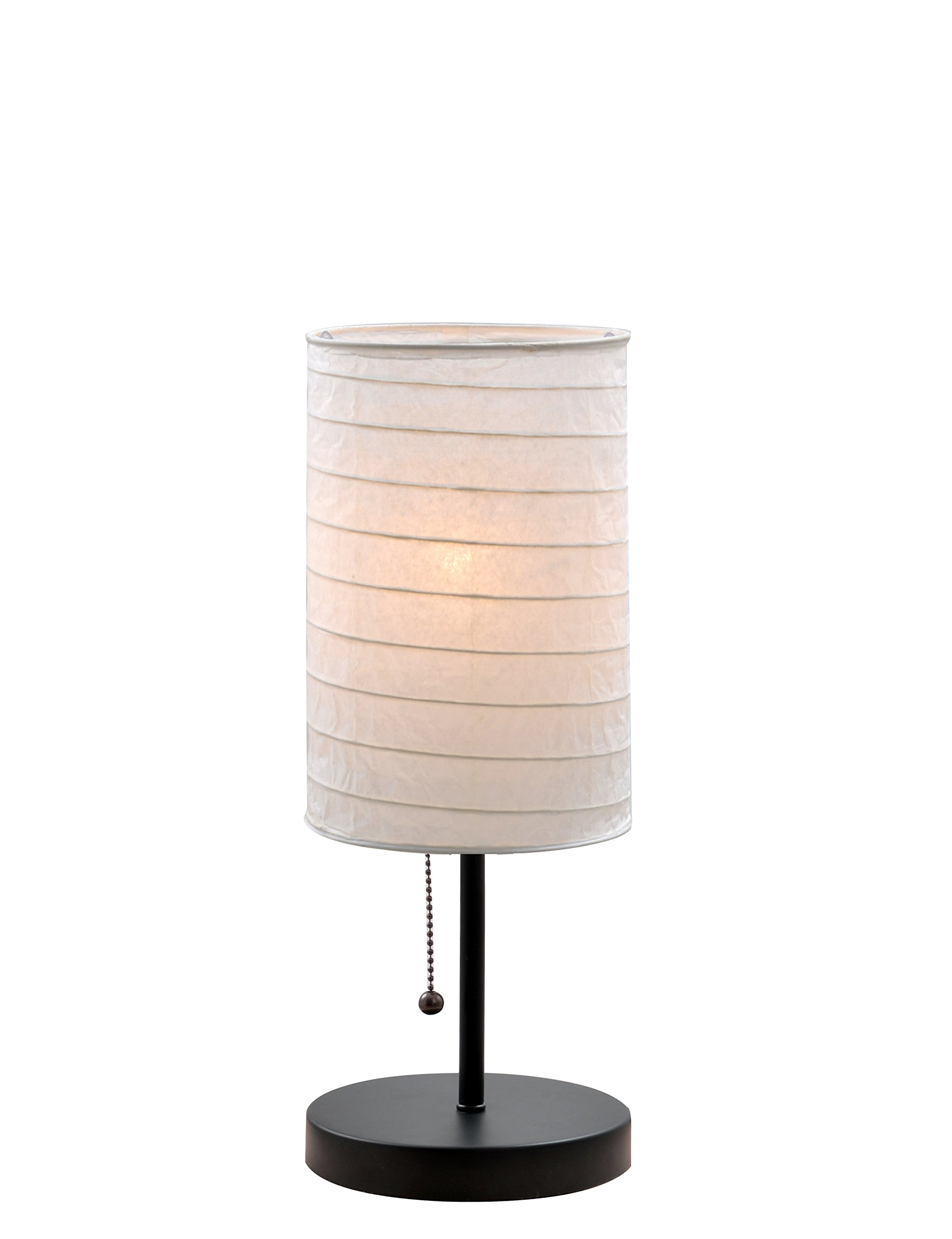 Catalina 18582-000 Paper Stick Accent Lamp with Rice Paper Shade, 15-Inch, Black