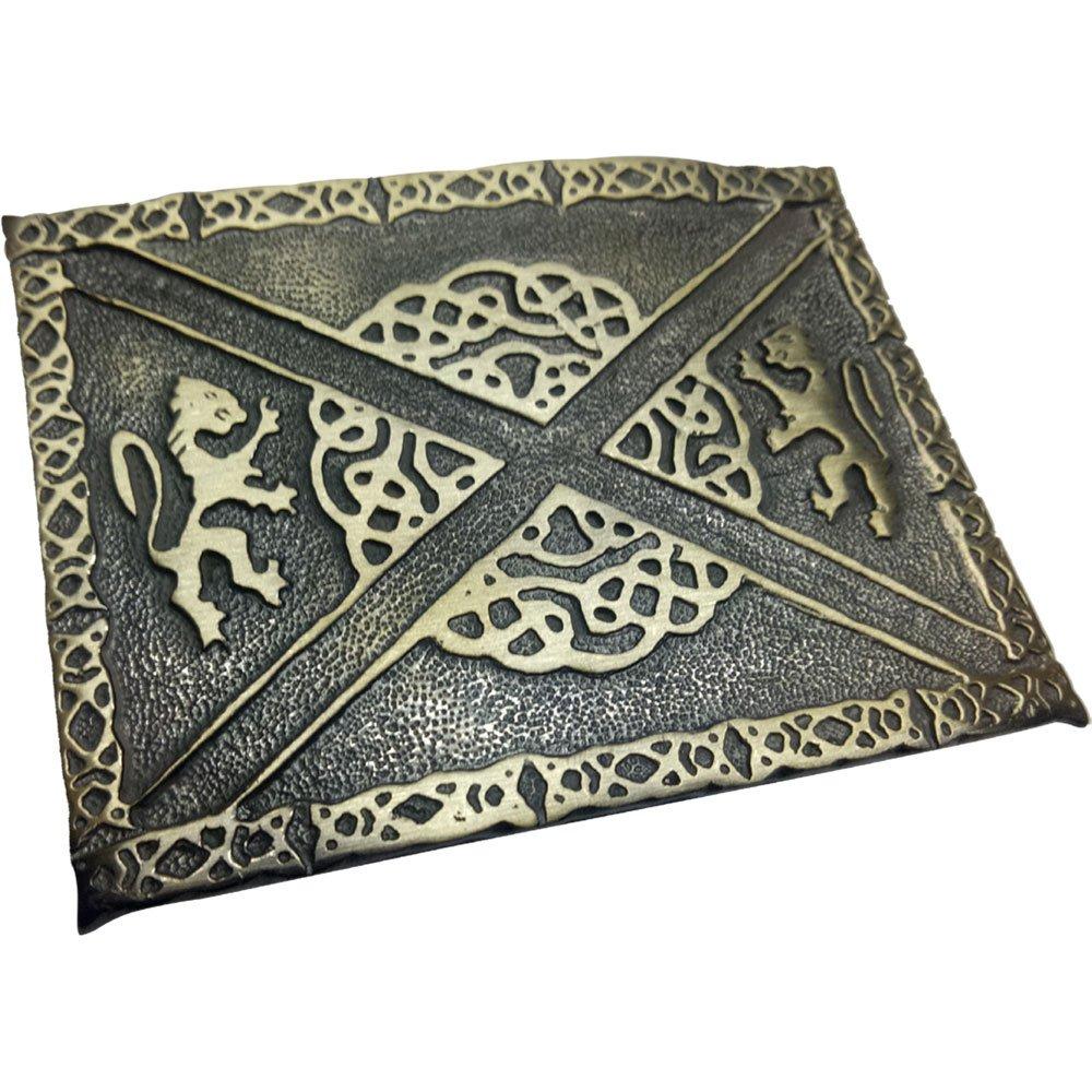 Scottish Kilt Belt Buckle Lion Rampant Saltire Antique Finish//Celtic Knot Buckles
