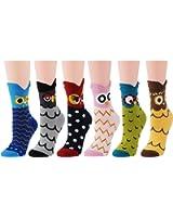 Deer Mum Lady Cute Owl Design Casual Socks
