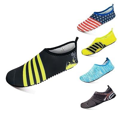 Amazon.com: ribika zapatos de agua descalzo zapatos surf ...