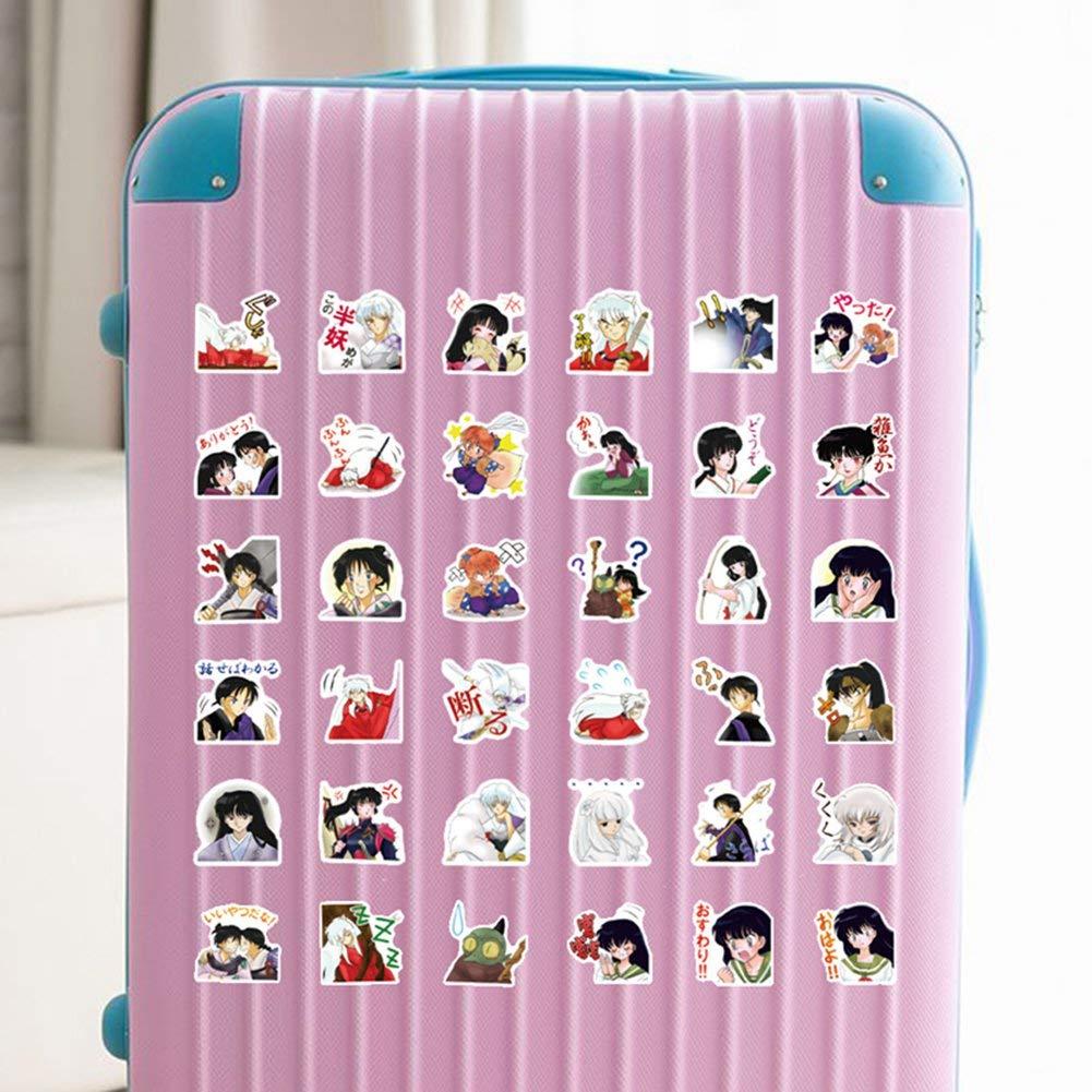MacBook equipaje vinilo 40 pegatinas Anime Inuyasha resistentes al agua ALTcompluser monopat/ín para port/átil