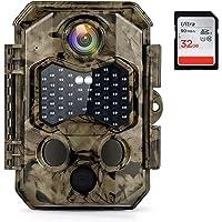 COOLIFE Cámaras de Caza 32MP 4K Velocidad de Disparo 0.2s Nocturna IP66 Impermeable Cámara de Fototrampeo con Detección…