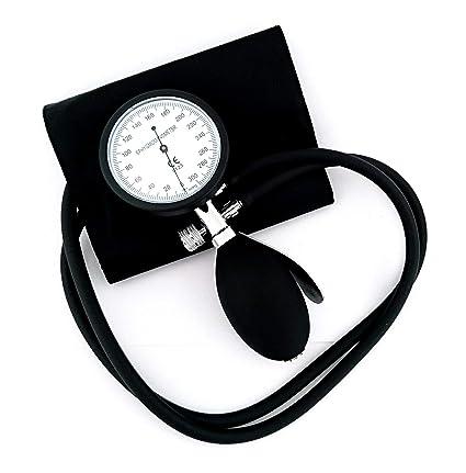 Esfigmomanómetro Tensiómetro Analógico Manual de Brazo + Grabado (Negro/Negro)