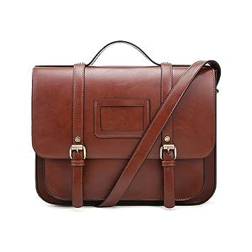 feinste Auswahl 689c4 440d6 ECOSUSI Vintage Umhängetasche Damen Messenger Tasche Mädchen mit  Verstellbarem und abnehmbarem Schultergurt Braun