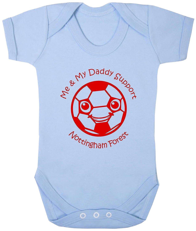 Hat-Trick Designs Nottingham Forest Football Baby Babygrow/Vest/Bodysuit/Romper-White/Blue/Pink-Me & My-Unisex Gift