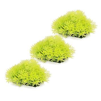 Planta de musgo artificial de plástico verde, plantas de musgo y hierba artificial, agujas