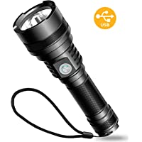 Led Flashlight,Sngg Rechargeable Flashlight with COB Light,USB Flashlight 18650 Battery Included IP65 Water-Resistant Camping,Hiking,Emergency Zoomable 1000 Lumens LED