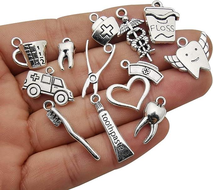 50x Tibetan Silver Key Pendant Charms Beads Findings DIY Jewelry Making //888F