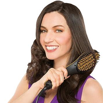 JML Simply Straight Plancha alisadora para el pelo, apagado automático, cepillo, color negro y dorado: Amazon.es: Salud y cuidado personal