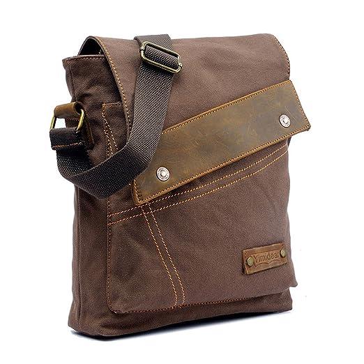111 opinioni per Vintage Canvas Shoulder Bag studenti sacchetto di svago Messenger Bag