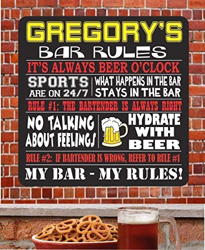 Amazon Com Custom Rules Home Bar Sign With Funny Drinking Quotes