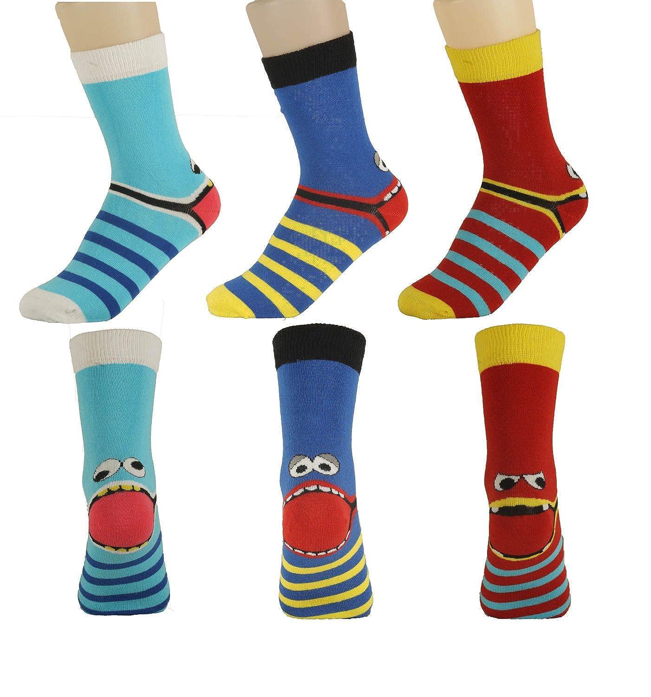 """Rutschfeste Socken mit  Baumwolle für Kinder im 3er Pack /""""Freche Bande/"""""""