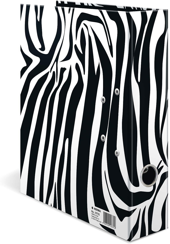 dorso 7 cm A4 confezione da 10 cartonato HERMA Registratore a leva con anelli Animal Print colori assortiti