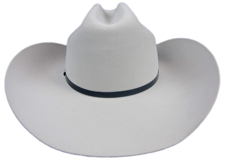 Stetson Del Norte 6X Silver Grey Cowboy Hat 7 3 8 Oval 4 1 4