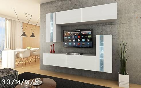 FUTURE 30 Moderne Wohnwand, Exklusive Mediamöbel, TV Schrank, Schrankwand,  TV