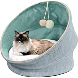 PetFun 2 in 1 Luxury Cat Beds Cozy Pet Beds Comfy Calming & Warming Kitten Beds Removable Cushion | Soft, Washable, Anti…
