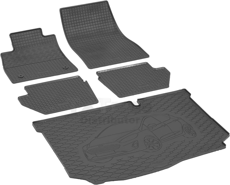 Passende Gummimatten und Kofferraumwanne Set geeignet f/ür Ford Fiesta Hatchback ab 2017ein Satz