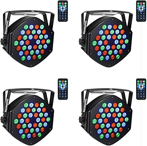 Easy Dancing PAR Lighting for Stage, with Remote (4 PCS)