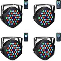 Par Lighting for Stage 36x1W LED RGB 7 Channel with Remote for DJ KTV Disco Party (4 PCS)