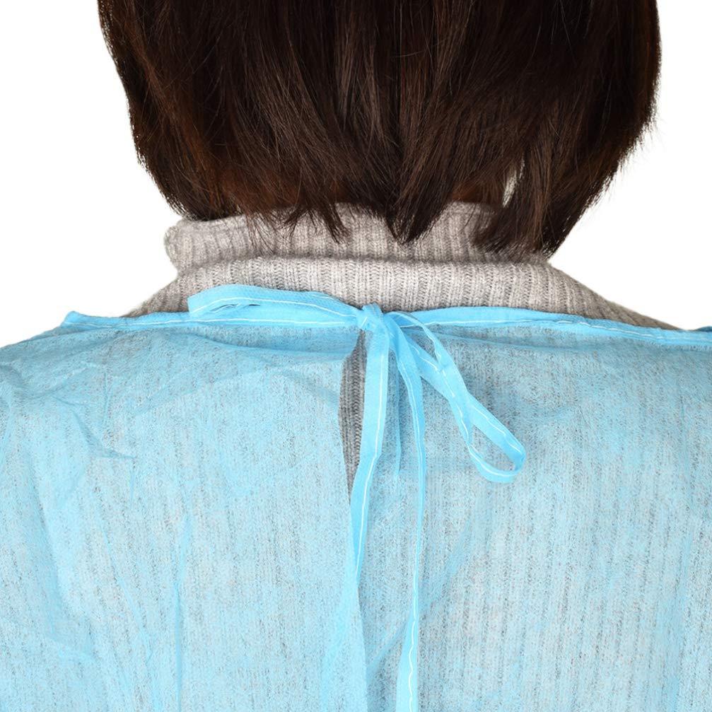 HEALLILY 12 Pezzi Abiti di Isolamento Monouso Universale Non Tessuto Tute di Protezione Medica per Medici Infermiere Laboratorio Forniture Ospedaliere Adulti Uomini Donne