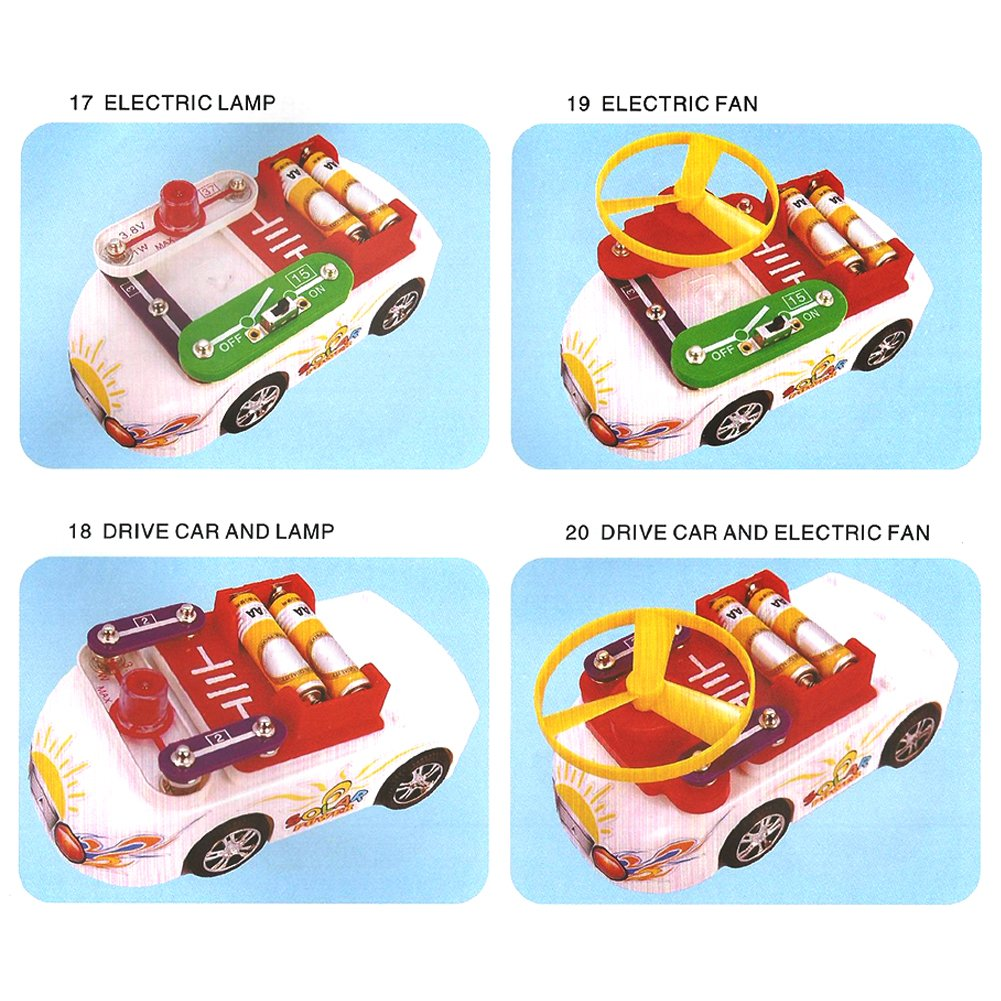 Per Diy Electric Circuit Building Blocks Car Kit With Automotive Circuits And Projects 17 Solar Energy Panel Electronics Discovery Educational Science Toys For Kids Children