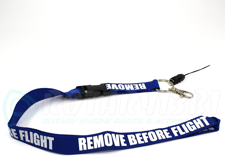 Remove Before Flight Lanyard Blue