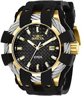 Invicta Mens Bolt Stainless Steel and Silicone Automatic Watch, Color:Black (Model