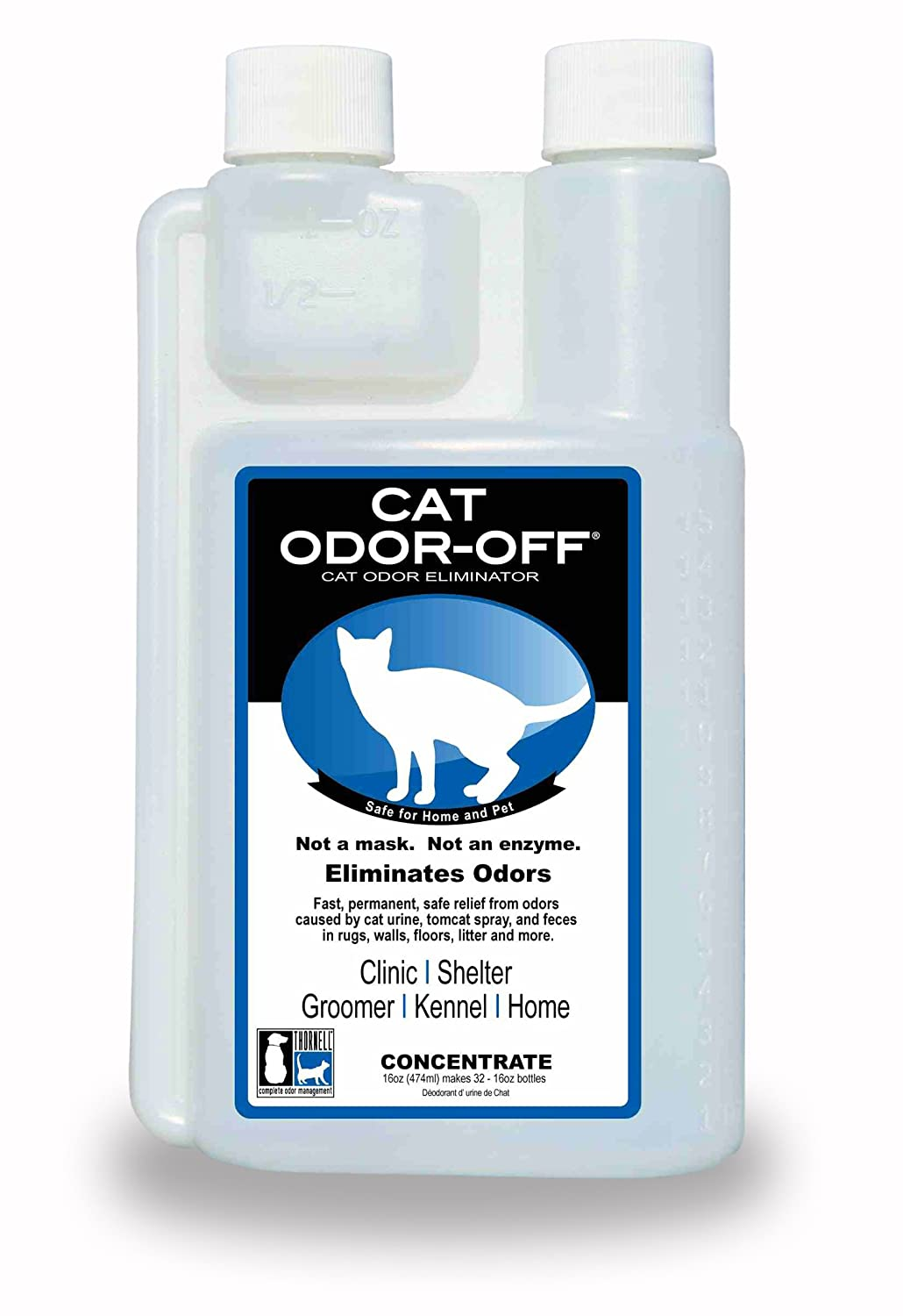 amazon com thornell cat odor off concentrate 16 ounce pet odor