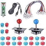 XCSOURCE 2 Giocatori Zero Delay Arcade Gioco Encoder USB Parti DIY + Joystick + Pulsanti per MAME Sanwa Raspberry Pi AC782