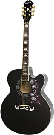 Epiphone EJ-200SCE - Guitarras electroacústicas, color negro