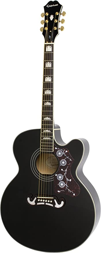 Epiphone EJ-200SCE - Guitarras electroacústicas, color negro ...