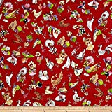 Loralie Designs Chicken Chique Coopers, Red