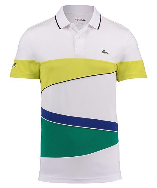 Lacoste Sport DH2098 Polo, Multicolor (Blanc/Citronnier-Noir ...