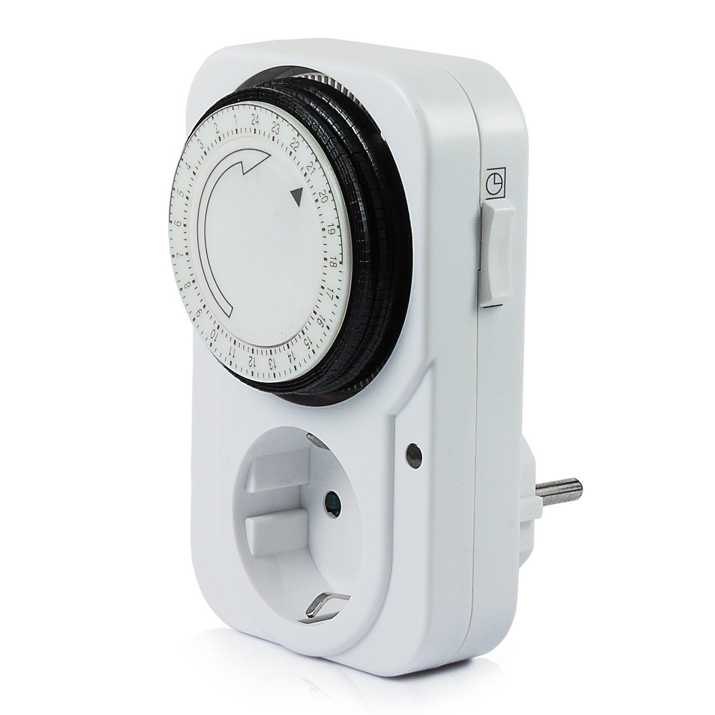 Vivanco TG-3, Temporizador programable manual 24 h con enchufe, Blanco product image