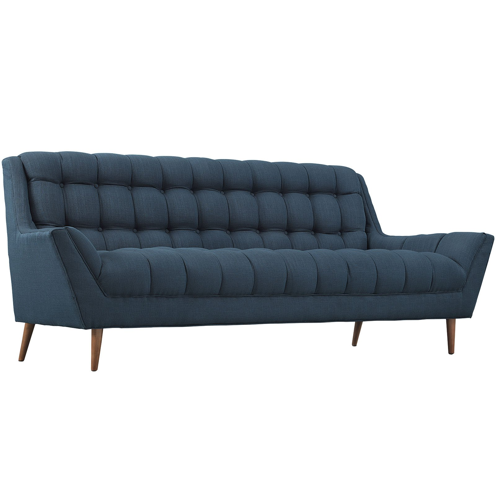 Modway Response Mid-Century Modern Sofa Upholstered Fabric in Azure by Modway