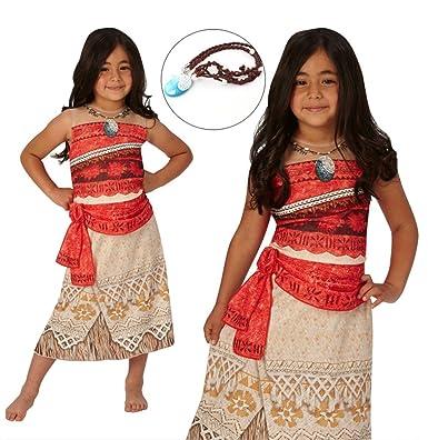 Amazon.com: Princess Moana Halloween Costume For Children Girls Kids Adult  With Necklace Halloween Disney: Clothing