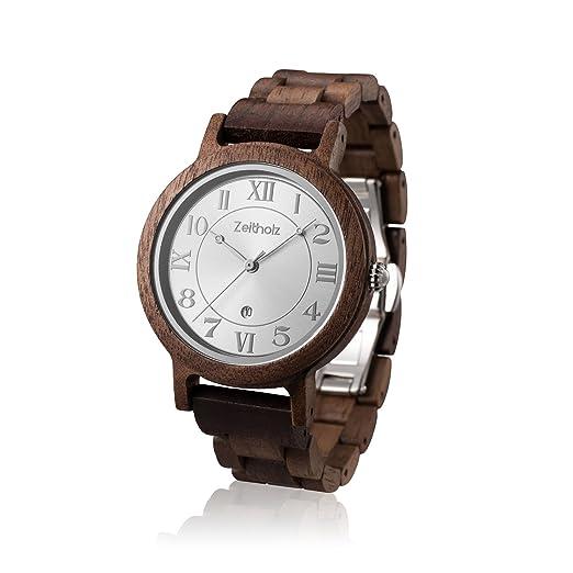 Reloj de Madera ZEITHOLZ - Wolkenstein - 100% de Madera de Nogal - Producto Natural