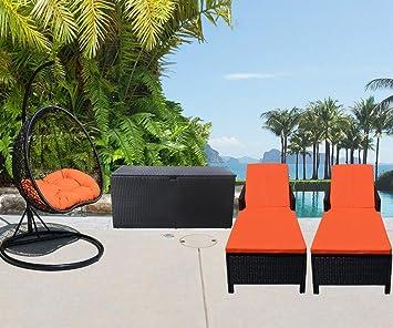 Amazon.com: 4 pieza de patio, jardín al aire última ...