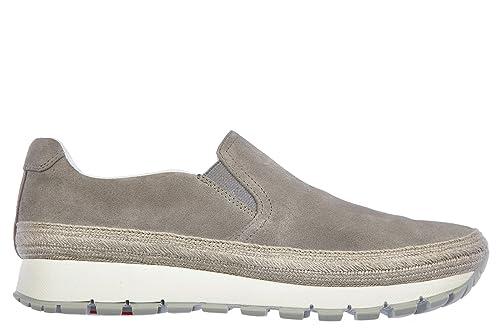 Prada slip on en ante mujer nuevo gris EU 37.5 3S6015_053_F0276: Amazon.es: Zapatos y complementos