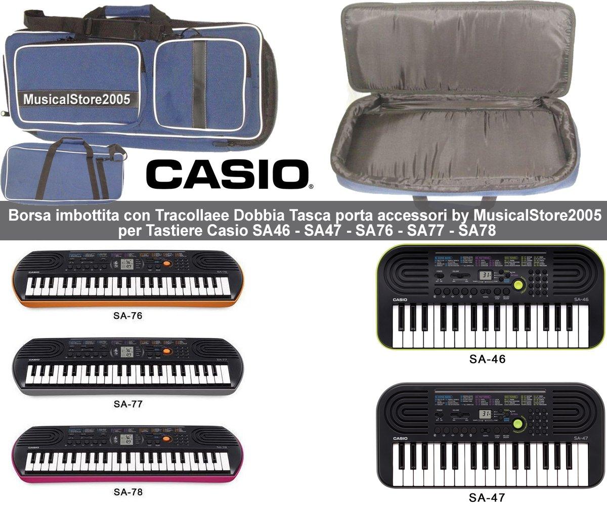 Bolsa extra-pro acolchada de 12 mm, antidesgarros para teclados Casio SA46 SA47 SA76 SA77 SA78: Amazon.es: Electrónica