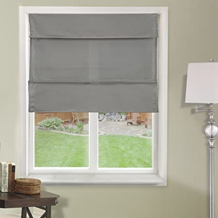 CHICOLOGY Cordless Magnetic Roman Shades/Window Blind Fabric Curtain Drape,  Light Filtering, Privacy