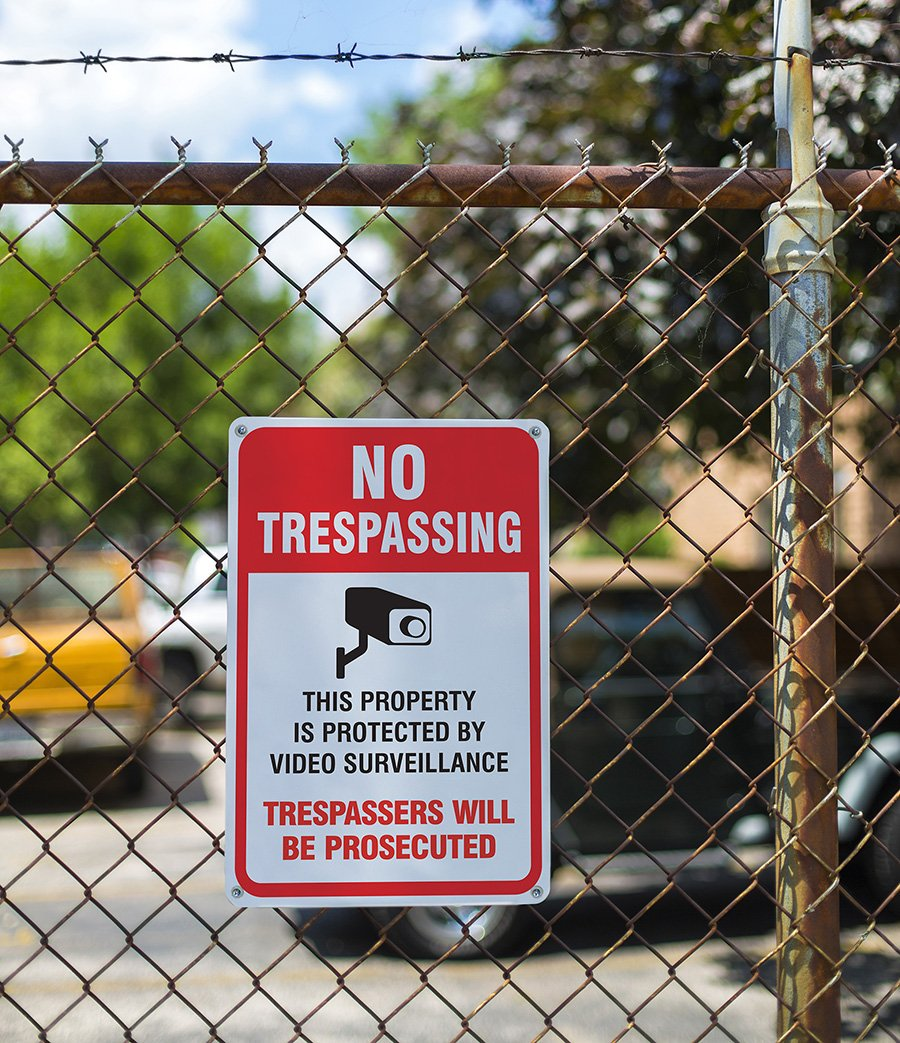 No Trespassing Violators Will Be Prosecuted Legend 10 Video Surveillance Sign