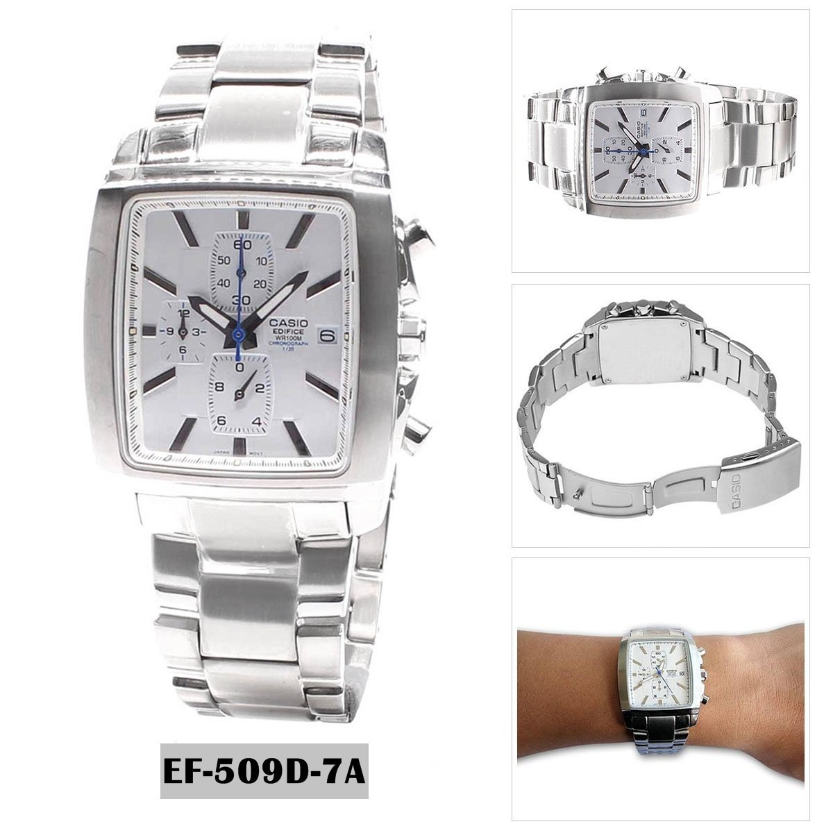 Amazon.com: Casio General Mens Watches Edifice Chronograph EF-509D-7AVDF - 4: Watches