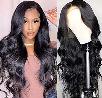Amazon Com Luduna 26 Lace Wig Real Human Hair Body Wave Lace Front Wig With Pre Plucked Baby Hair 150 Density 9a 100 Unprocessed Real Hair Wigs Glueless Human Hair Lace Front